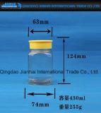 Nahrungsmittelspeicher-Raum-Glasflasche mit Plastikschutzkappe