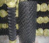 ロールまたはチェーン・リンクの網の黒いPVC上塗を施してあるチェーン金網