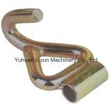 50mm x 5000kg Single J-Hook W/Tube, Metal Hook для Ratchet Tie Down/Cargo Lashing Strap