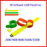 movimentação do flash do USB do Wristband do USB Pendrive do bracelete 128g