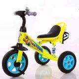 Езда на трицикле цвета 3-Wheel желтого цвета Bike трицикла для малышей