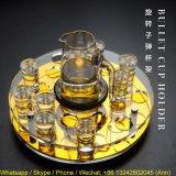 Sostenedor de taza de acrílico giratorio del punto negro