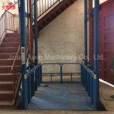 Het verticale Platform van de Lift van de Lift van de Lading van het Pakhuis van het Spoor van de Gids Hydraulische