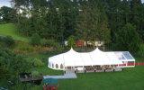 贅沢な装飾が付いているホテルのテントのマルチ側面のテントを食事することを予約した