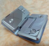 Miroir chromé brillant en acier inoxydable 135 Garniture de porte de douche