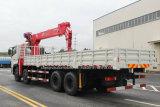 270HP 8X4の頑丈な貨物自動車14tのトラックはXCMGクレーンによって取付けた