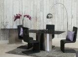 現代贅沢で白い鋼鉄コピーの大理石の上のダイニングテーブル(NK-DT228-2)