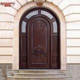상인방 (GSP1-035)를 가진 교회 둥근 최고 외부 목제 문