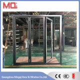 Алюминиевая внешняя низкая дверь двери складчатости e стеклянная Bi-Fold