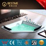 Banheira luxuosa acrílica da massagem da Diamante-Forma (BT-A1035)