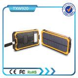 Sonnenenergie-Bank mit 10000mAh 5V 2A verdoppeln USB