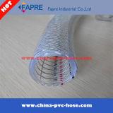 2.017 flexible de alta presión de alambre de acero y fibra trenzada de PVC reforzado con revestimiento de tubos de manguera