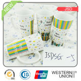 Porcelana Taza de la raya Decal en V -Shape