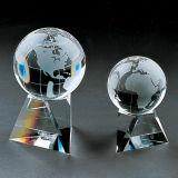 Трофей пожалования футбола футбола кристаллический стекла для сувениров