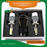 두 배 광속 LED 차 헤드라이트 플러그 앤 플레이 C6 H4 H13 9004 9007의 차 H4 LED 헤드라이트 전구