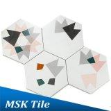Azulejo geométrico Mskxh003b del hexágono de Wall&Floor de la porcelana