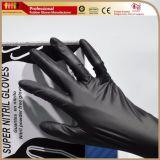 Перчатки работы нитрила 9 дюймов для гаража автомобилей и промышленной пользы