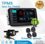 Tela grande Android do sistema do monitor da pressão de pneu do carro TPMS no External interno do GPS APP