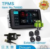 Pantalla grande androide del sistema del monitor de la presión de neumático del coche TPMS en External interno del GPS APP