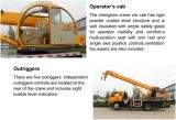 Caminhão aéreo da plataforma do guindaste hidráulico da garantia de 12 meses