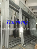 Porte en aluminium personnalisée de cavité de qualité avec le double vitrage