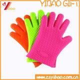 Het keukengerei draagt Handschoenen de Op hoge temperatuur van het Silicone van de Isolatie (x-y-gv-65)