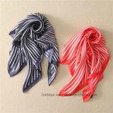 Neue Art-Form-reiner Silk Schal mit klassischem Streifen-Entwurf (HWBS010)
