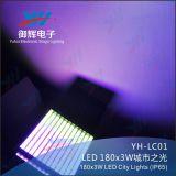 Luzes da cor da cidade do estágio ao ar livre do diodo emissor de luz 180*3W Powr