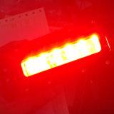 フォークリフト、頑丈な機械のためのLED6412 12W 6inch赤いLEDの軽い緊急の警告ランプ