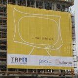 Подгоняно рекламирующ знамена сетки для вися промотирования