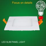 Высокий свет панели ватта СИД снабжения жилищем 9 яркости ультра тонкий алюминиевый