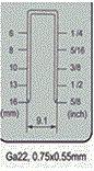 """Пневматический датчик 22 инструментов 5/8 """" точных сшивателей Fs7116/Fs7116b кроны"""