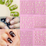 3D Butterfly Lace Flower Water Transfer Nail Art Autocollant Nail Sticker