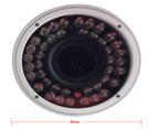Motorisierte Zoomobjektiv 1.3MP IR im Freiencctv-IP-Kamera