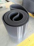Cinto de cinturão síncrono de borracha industrial com nervuras