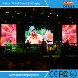 Farbenreiches Innen-Bildschirmanzeige-Panel LED-P4 für Miete