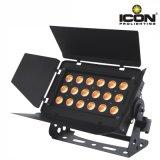Indicatore luminoso di PARITÀ della lavata di RGBW 4in1 LED con il deflettore per dell'interno