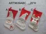 Omhoog het aansteken van Kerstman & het Frame kous-3asst van de Foto van de Sneeuwman