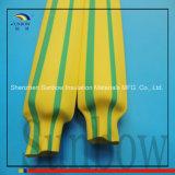 Tubo termorestringibile di verde giallo di resistenza della fiamma per cavo