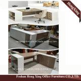 (HX-RY0039) L d'acajou meubles de bureau du bureau de gestionnaire de forme cpc