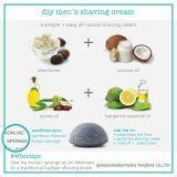 Éponge konjac de centrale végétale 100% normale neuve en gros pour le favori du bébé de nettoyage de face et de corps