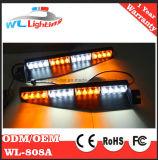 La polizia trasporta gli indicatori luminosi su autocarro d'avvertimento dello stroboscopio della visiera dell'automobile LED