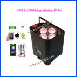 LED Slim PAR Battery 4PCS * 18W Wireless Disco Light