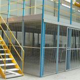 2つのレベルの中二階床システム