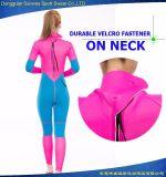 Da luva longa flexível durável do mergulhador das mulheres terno surfando rigoroso