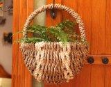 (BC-SF1014)環境に優しいハンドメイドの自然なわらの花のバスケット