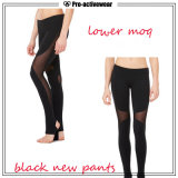 I pantaloni su ordine di yoga delle più nuove ragazze di disegno comerciano le ghette all'ingrosso di yoga di usura di ginnastica di alta qualità con il marchio su ordinazione