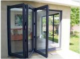 Алюминиевая Bi-Складывая дверь складчатости окна двери