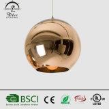 Dekorativer moderner kupferner hängender Beleuchtung-Polnisch-Lack-Spiegel-hängende Glaslampe