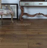 Brown lavado la mancha con cepillo de alambre de roble Parquet / pisos de madera dura
